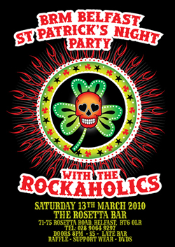 BIG RED MACHINE BELFAST ST. PATRICK'S NIGHT PARTY with the ROCKAHOLICS